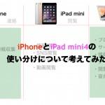 iPhone iPad mini4 の使い分けを考えてみた