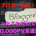 ブロガー必見!たったこれだけで10,000PVを達成する方法